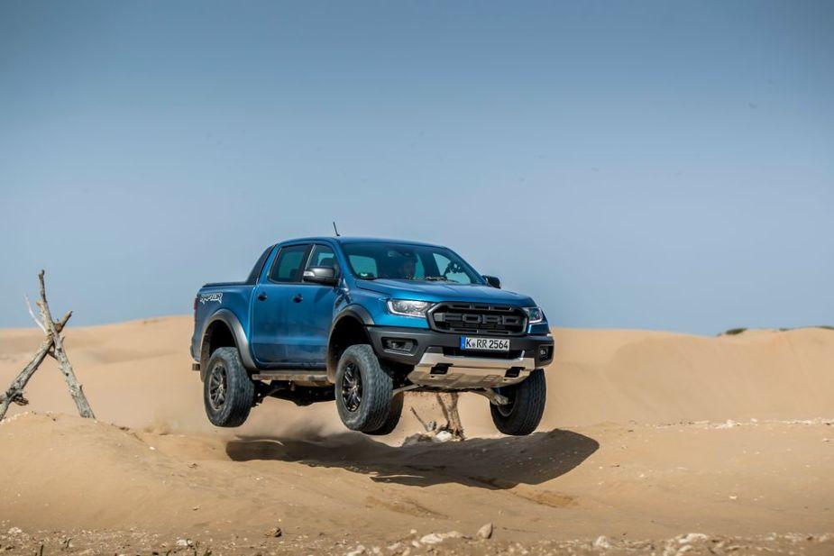 Ranger Rapto jumping in Morocco