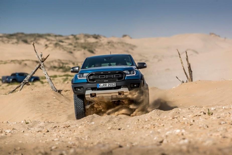 Ford Ranger Raptor in the desert
