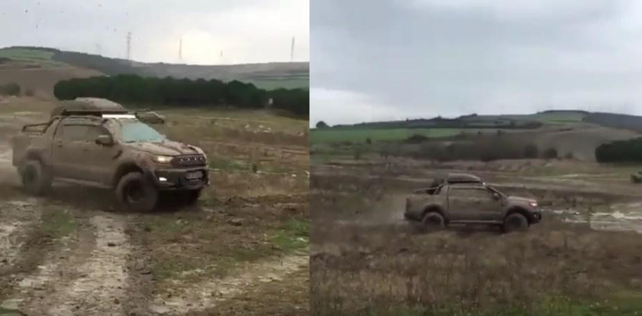 Ford Ranger Wildtrak Mudding