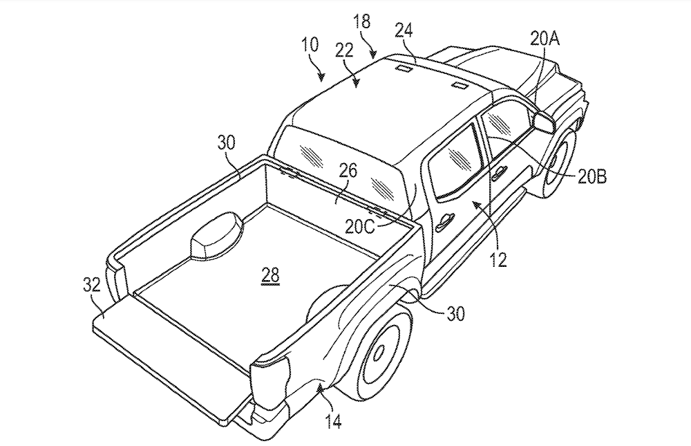 Ford Patent Hints That Convertible Pickup Might Be in the