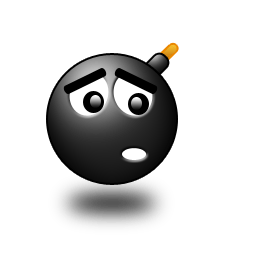 Lovely Black Bomb Face Icon Png Download Free VectorPSDFLASHJPG Wwwfordesignercom
