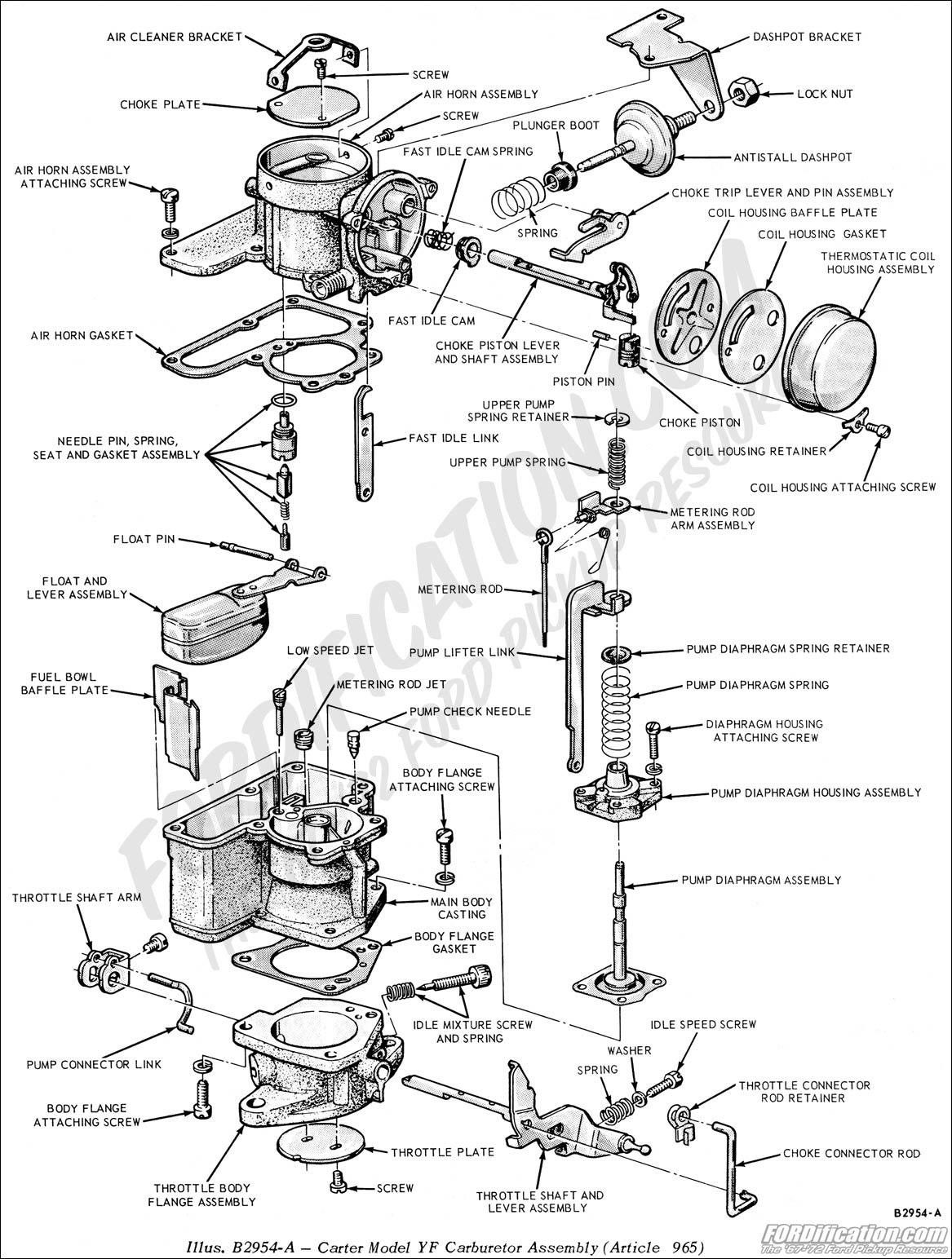 Carter W 1 Carburetor