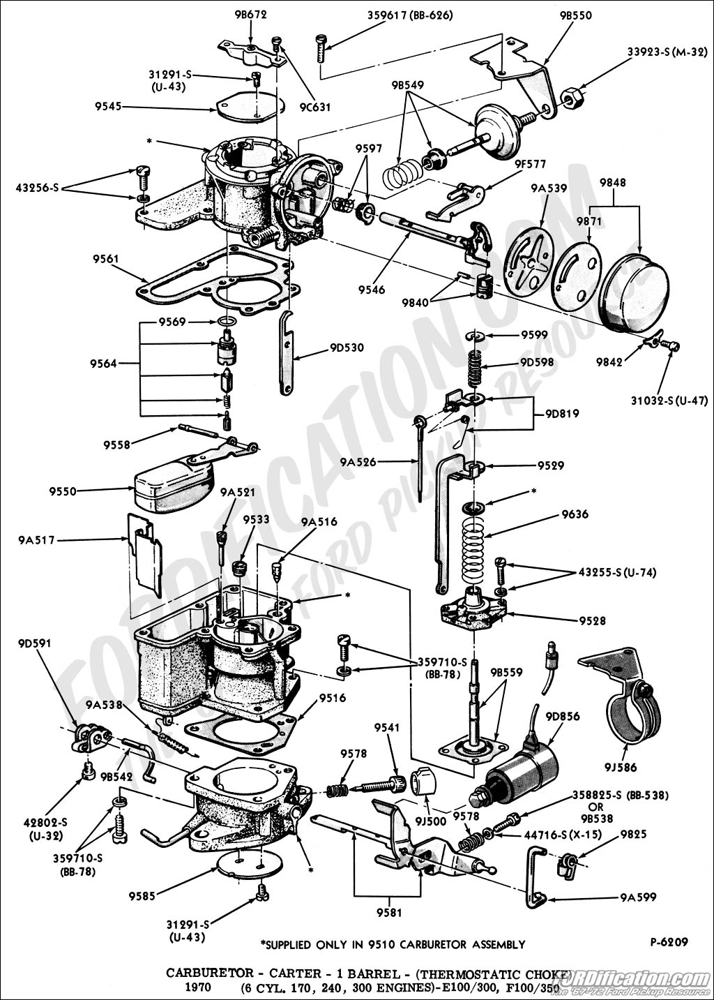 Ford F100 Vacuum Diagram