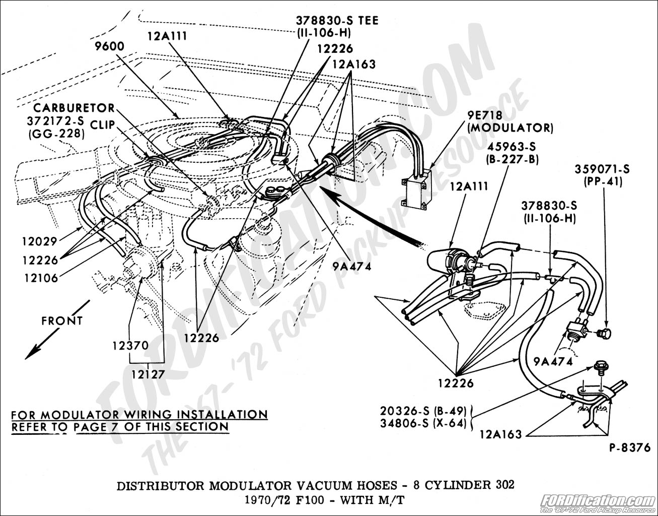 Ford F100 302 Vacuum Diagram