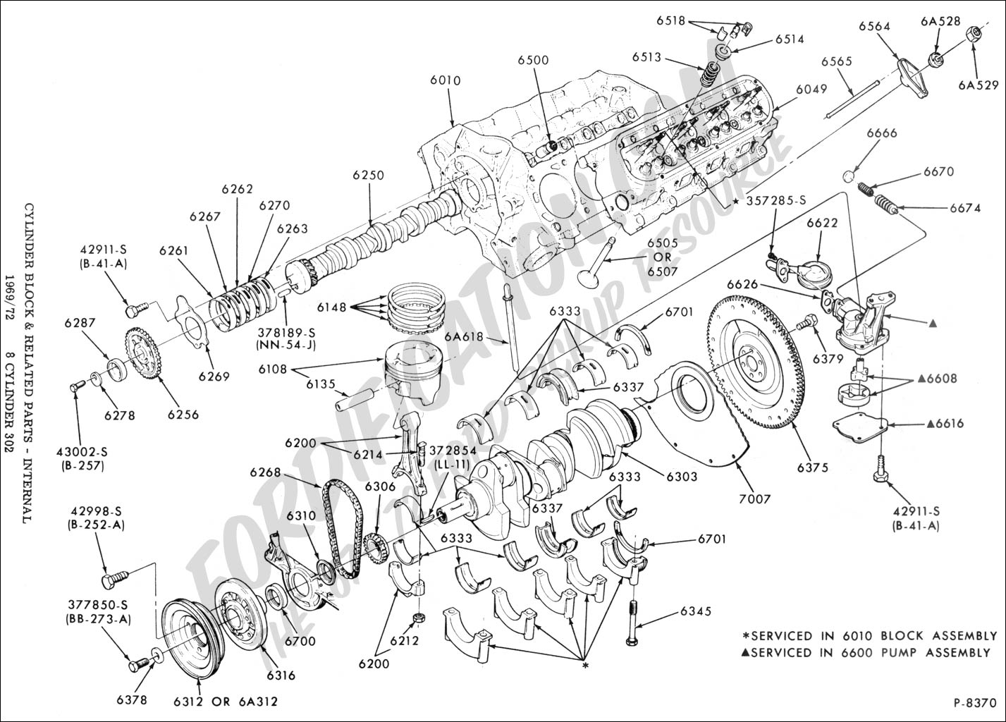Ford Engine Parts Schematic