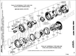 Ford Truck Technical Drawings and Schematics  Section A  FrontRear Axle Assemblies and