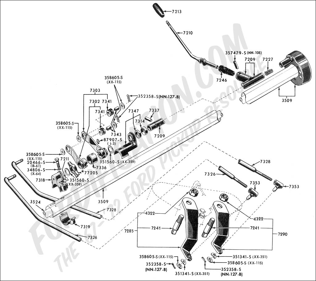 Ford truck technical drawings and schematics section c steering systems and related ponents