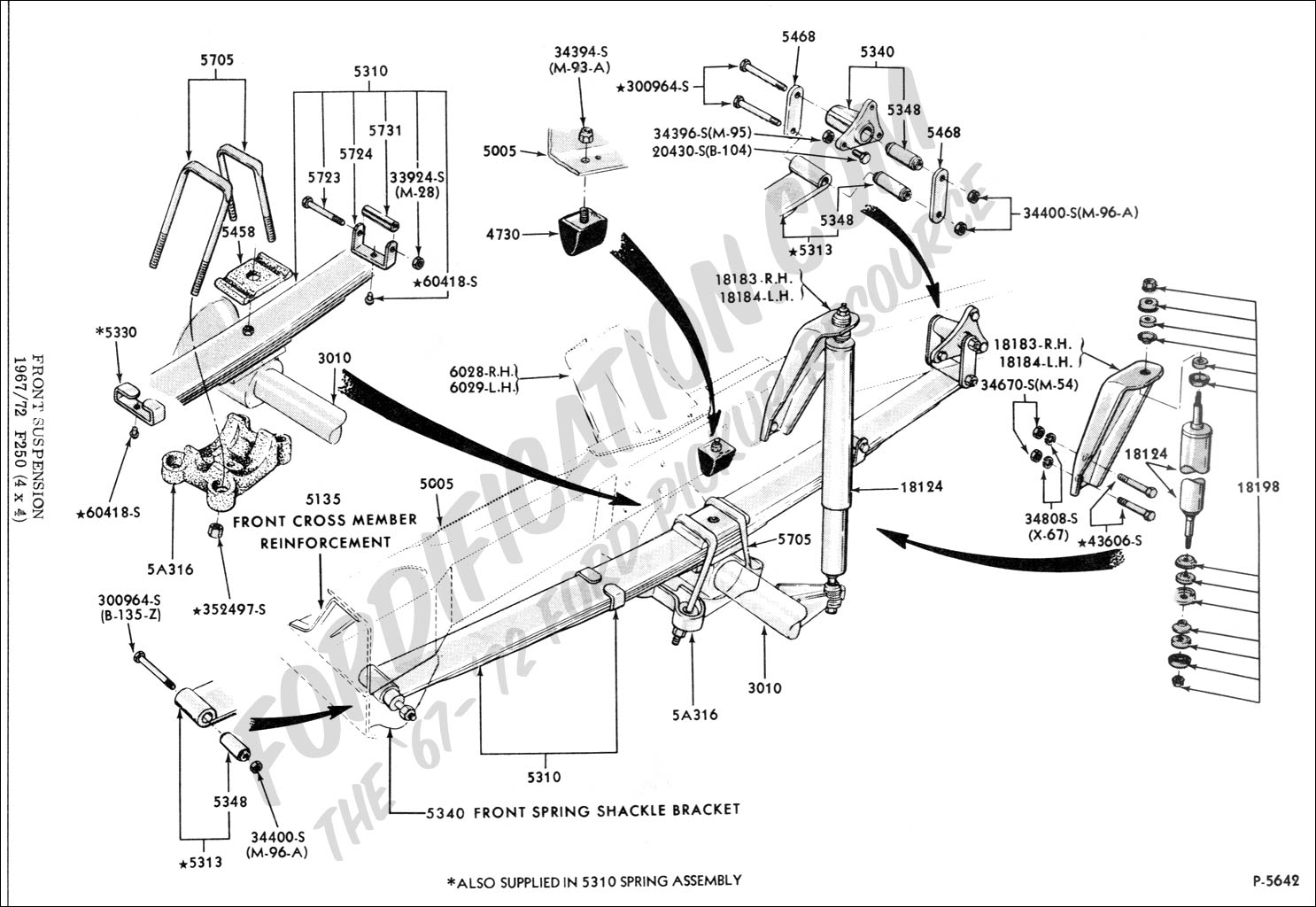 34 Ford F250 4x4 Front Axle Diagram