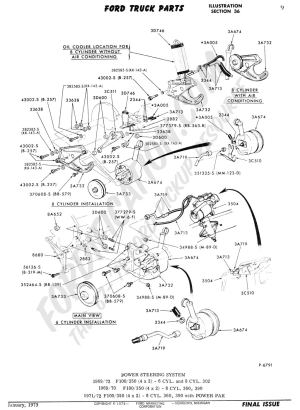 Ford Truck Technical Drawings and Schematics  Section C  Steering Systems and Related Components