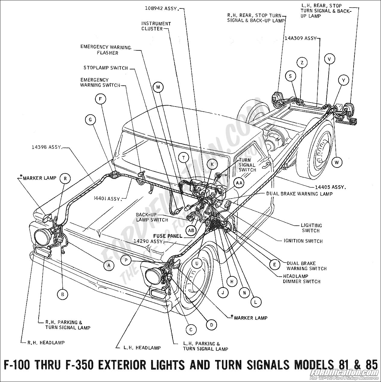Ford F100 Turn Signal Wiring Diagram Sketch Coloring Page
