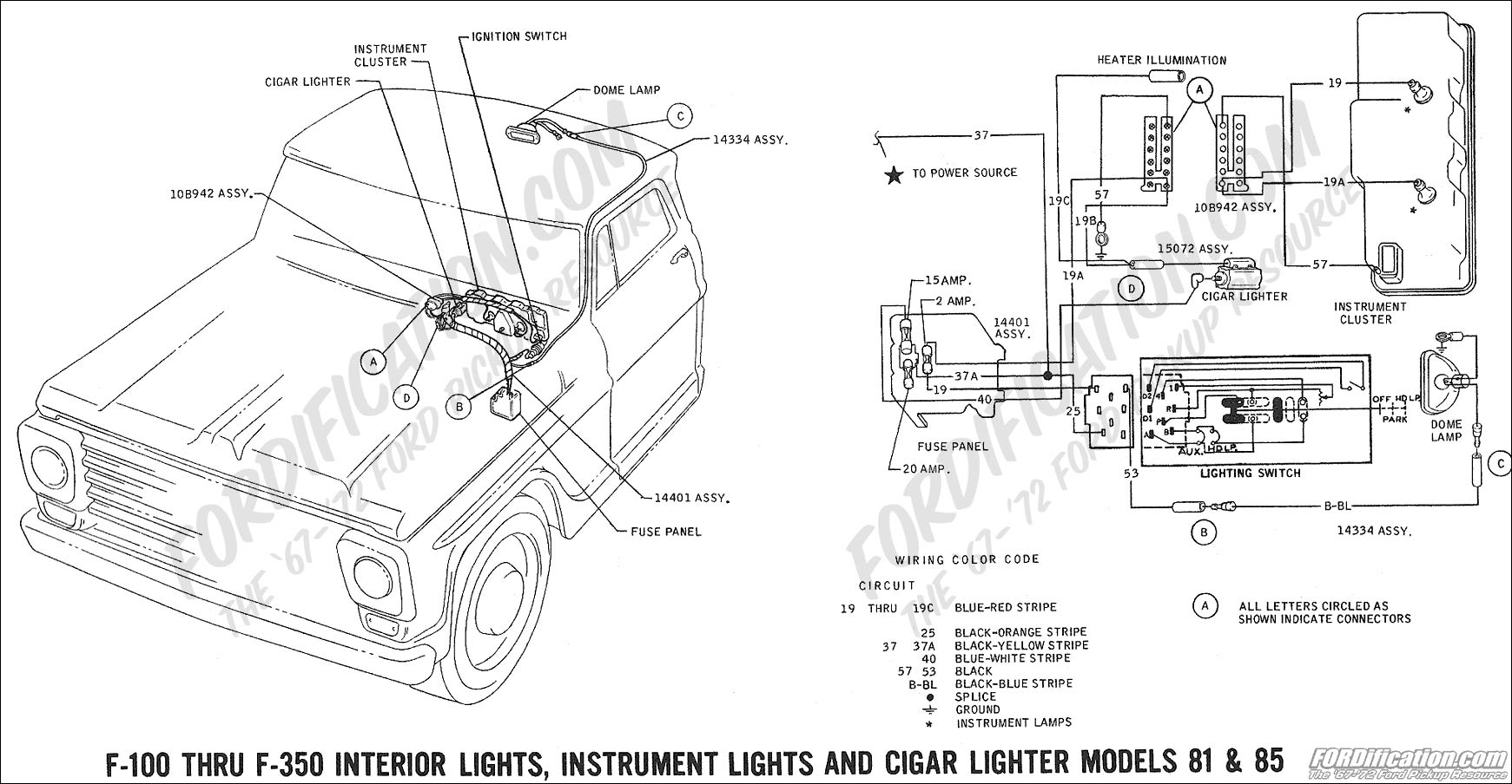 Ford F100 Interior Wiring Diagram