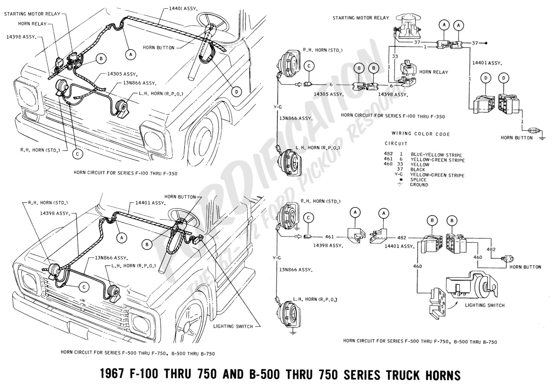 Ford F100 Turn Signal Wiring Diagrams Ford Wiring