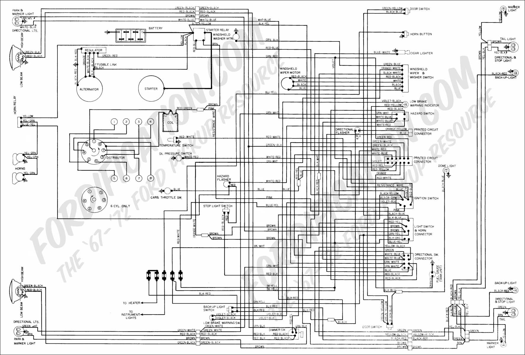 1994 ford f150 wiring schematic wiring diagram Ford Diagrams Schematics 1973 1979 ford truck wiring diagrams schematics fordification ford diagrams schematics