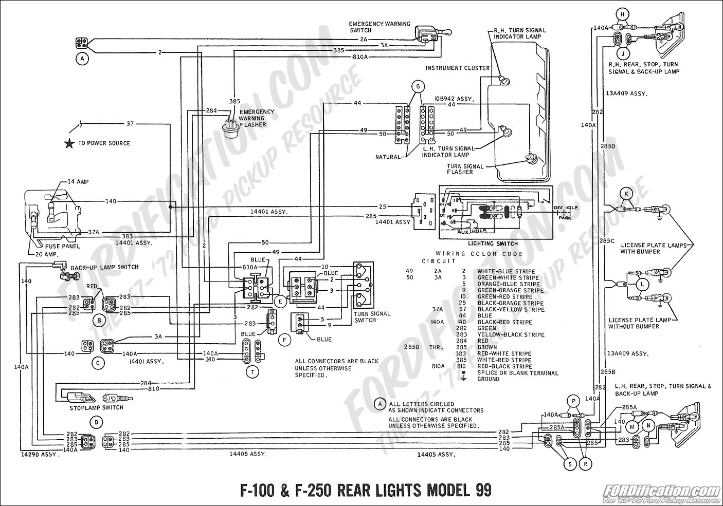 Ford Pickup Turn Signal Switch Schematic