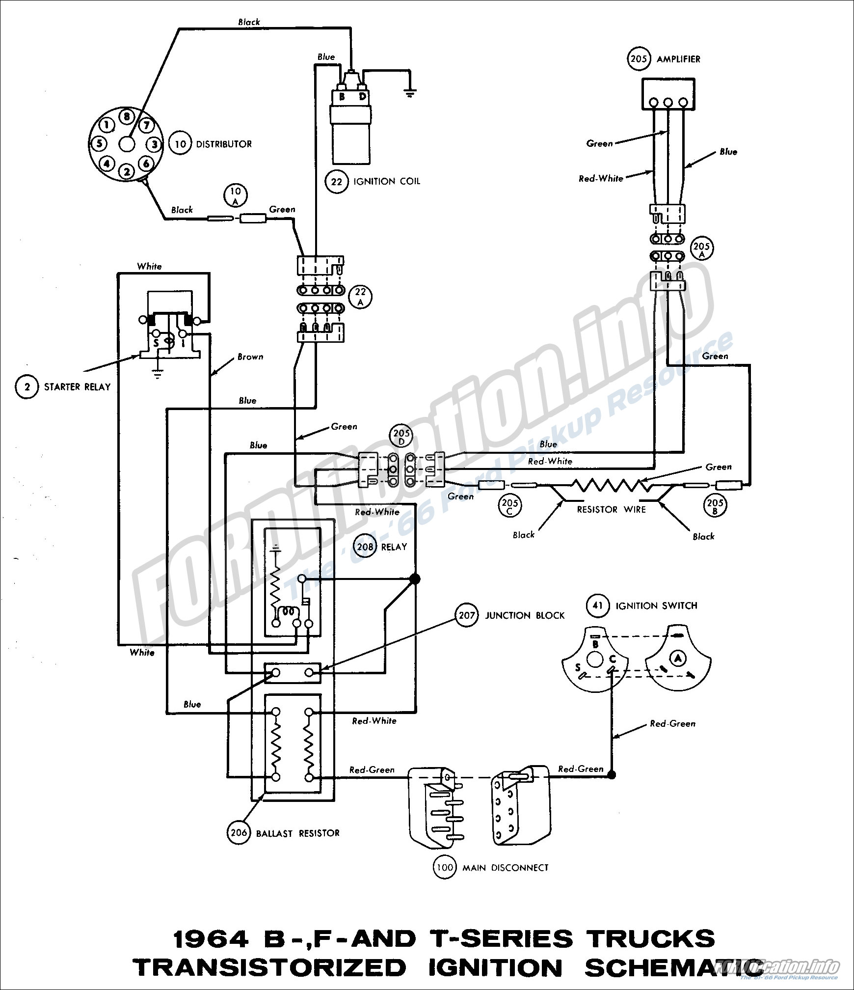 Ford F100 Turn Signal Switch Wiring Diagram
