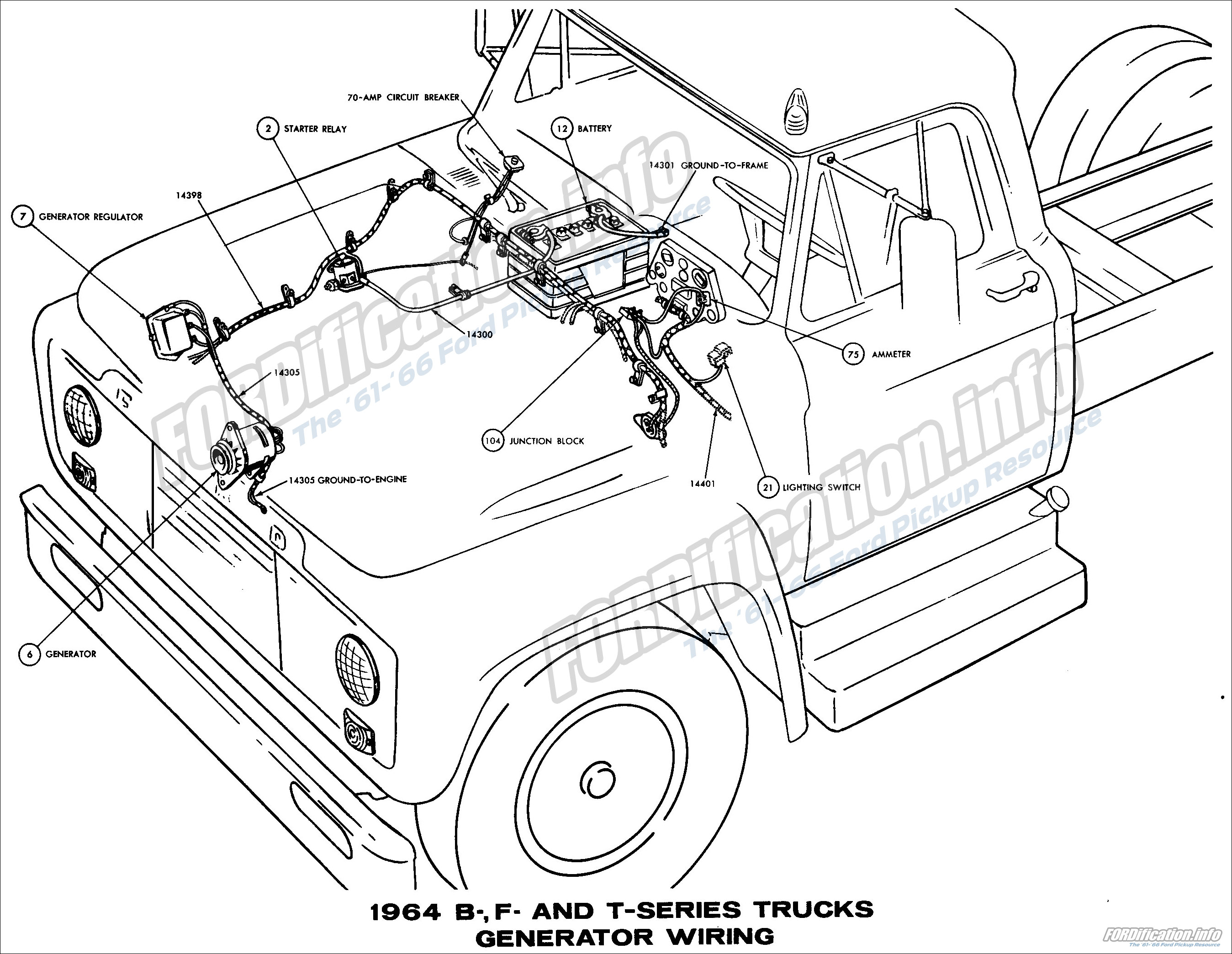 1964 ford truck wiring diagrams fordification info the 61 66 rh fordification info