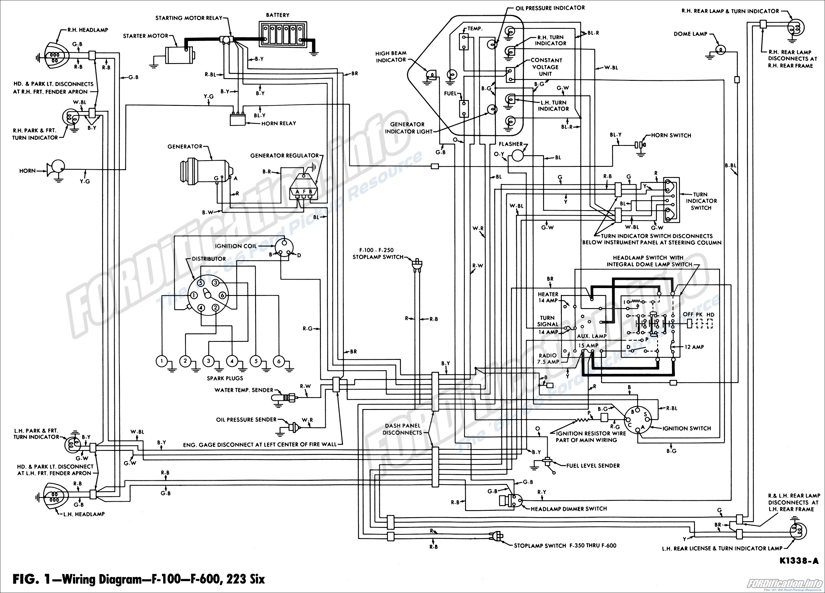 62 Ford F100 Wiring Diagram Ford F100 Radio Wiring Ford