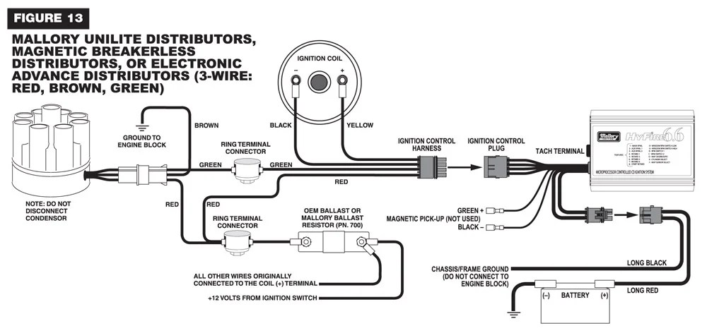6.6_Wire mallory 6al wiring diagram mallory hyfire wiring \u2022 wiring diagrams wiring diagram for a mallory unilite distributor at bayanpartner.co