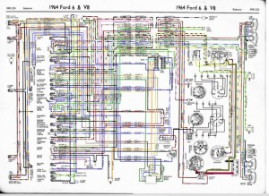 64 galaxie wiring diagram in color here  Ford Muscle Forums : Ford Muscle Cars Tech Forum