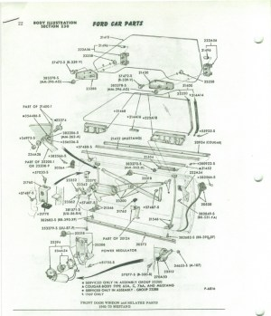Need a 69 and 70 Mustang side glass diagram  Ford