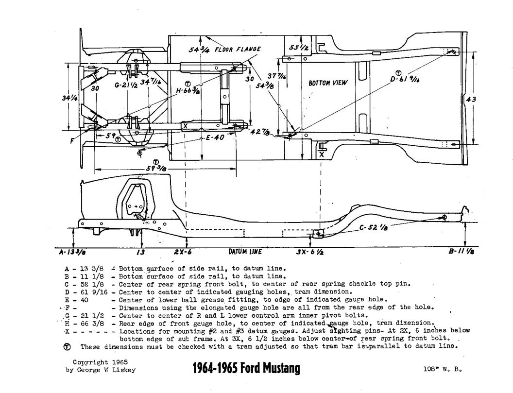 Mustang Underbody Dimensions Accuracy