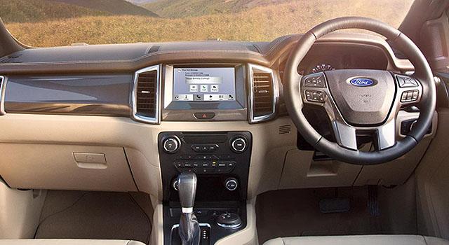 2019 Ford Endeavour interior