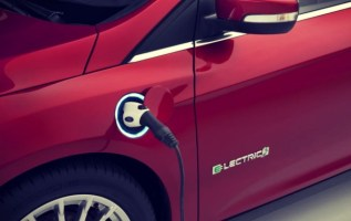 2019 Ford Model E charging
