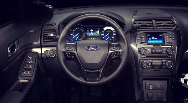 2020 Ford Explorer Police Interceptor interior