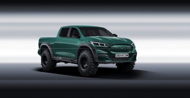 2021 Ford Mach-E Pickup Truck rendering