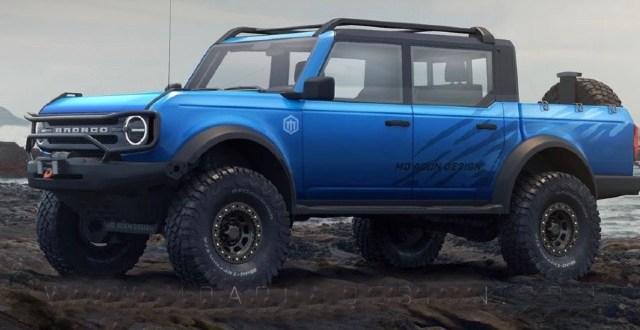 2024 Ford Bronco Pickup Truck render
