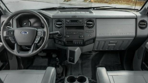 2021 Ford F-750 interior