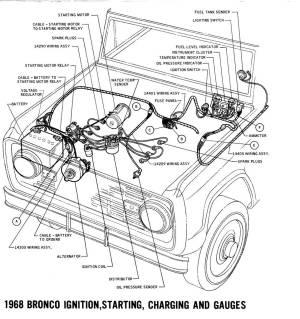 1968 Bronco wiring diagrams  Ford Truck Fanatics