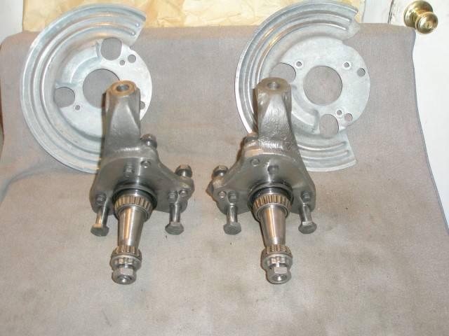 Sold Disc Brake Spindles Amp Dust Shields 73 74 E Body 73
