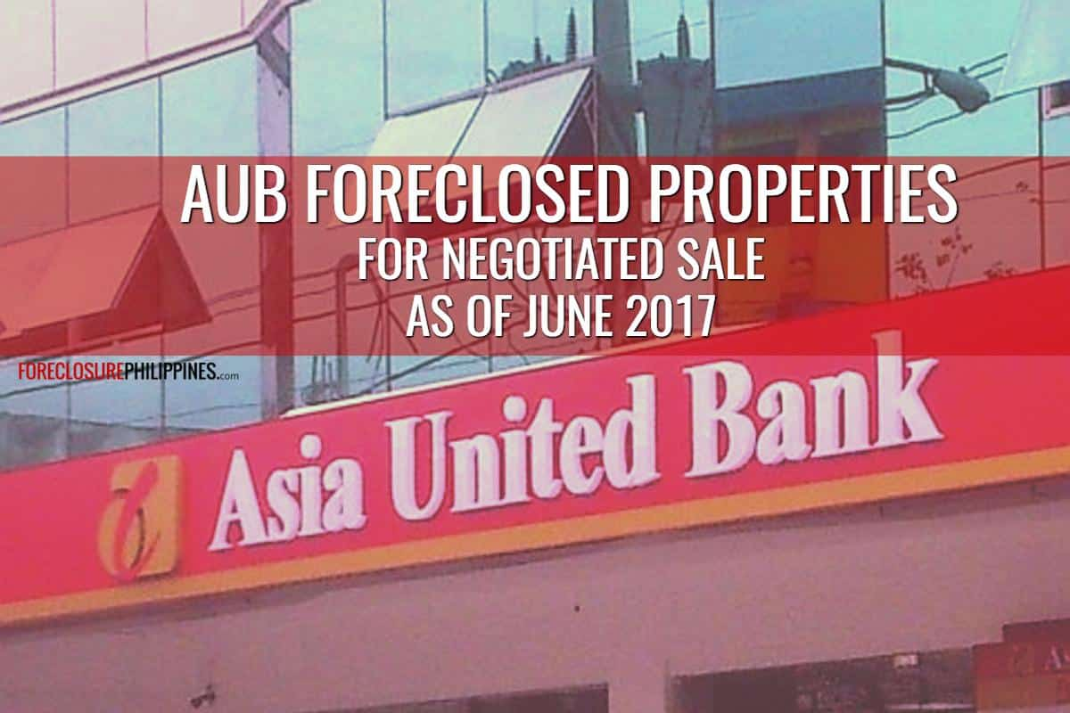 Security Bank Foreclosed Properties