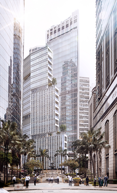 Sheung Wan tower 3d visualization in Hong Kong, architectural rendering