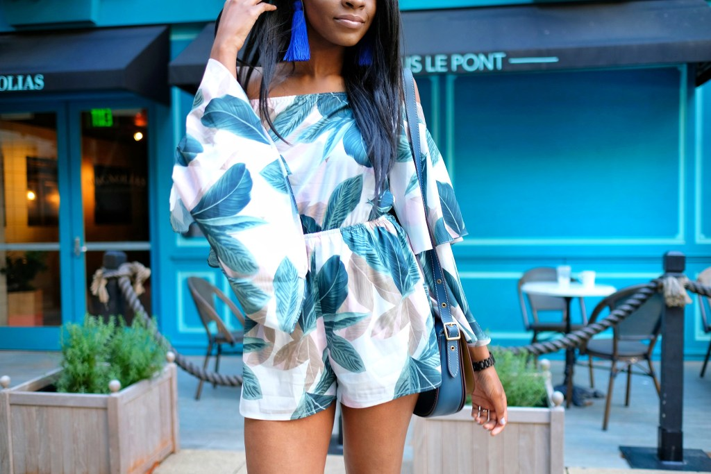 Missguided bell sleeve romper