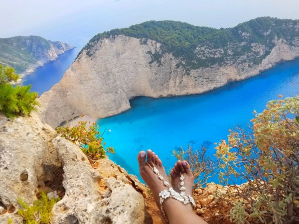 Shipwreck beach viewpoint - Tips for Your Greek Islands Travel by popular Dallas travel blogger Foreign Fresh & Fierce