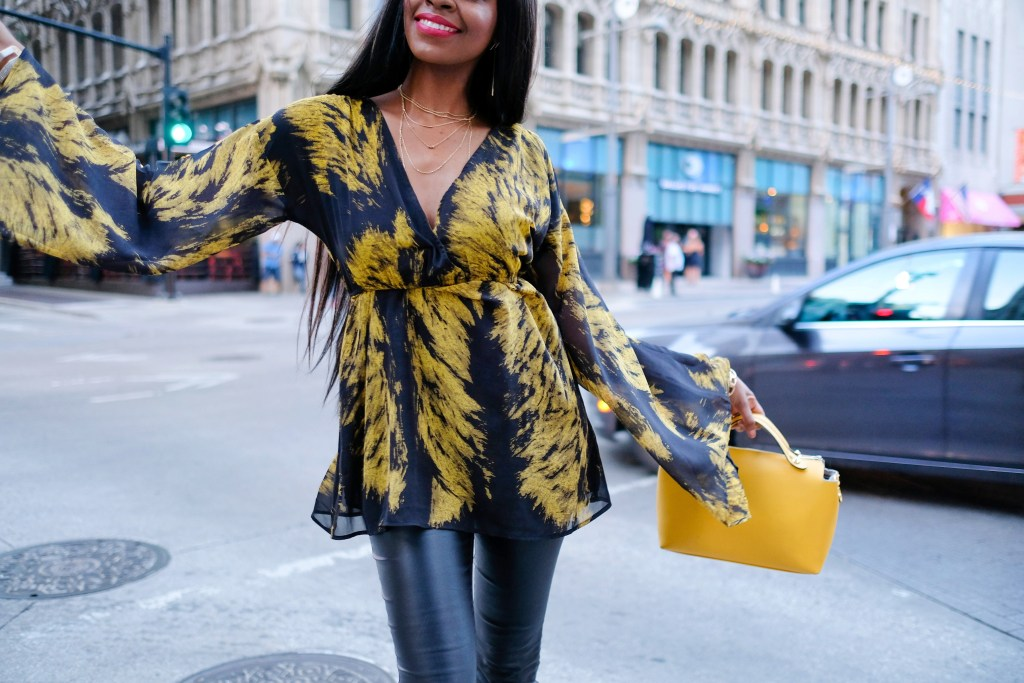 fall fashion bell sleeves streetstyle