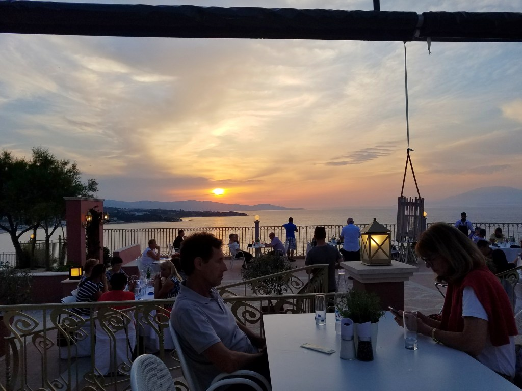 Balcony Restaurant Zakynthos Greece - Travel Guide: Exploring Zakynthos Greece by popular Dallas travel blogger Fresh Foreign & Fierce