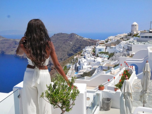 Above Blue Suites best photo locations in Santorini Greece