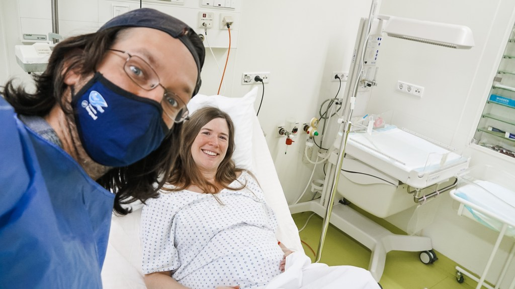 With Craig in the labor and delivery room
