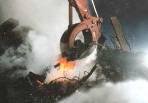 Molten metal at the WTC