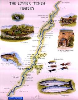 © Lower Itchen Fishery – River Map