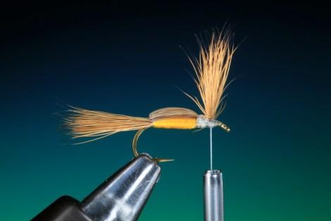 Forelle Äsche Fliegenbinden Barry Ord Clarke Humpy16