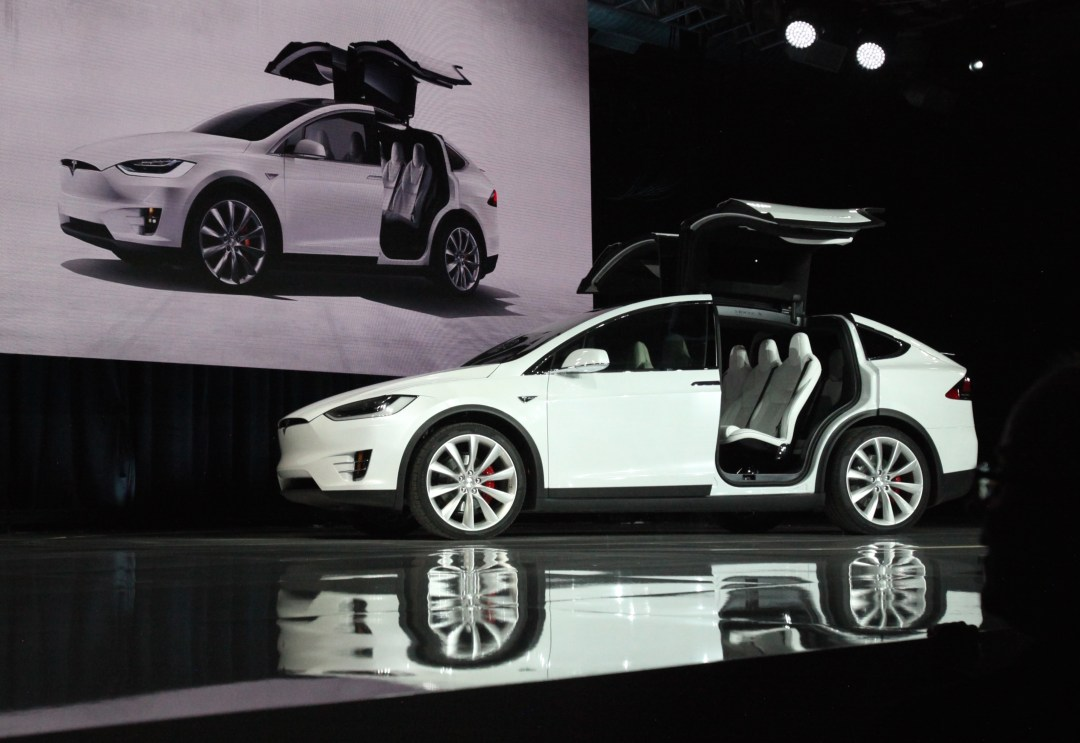 Tesla Model X at the market launch ceremony