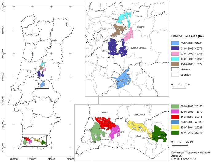Monitoring Wildfires With Spatial Technology Has Limitations - Portugal map of fires