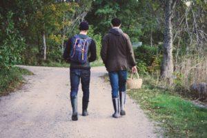 Fińscy leśnicy państwowi przyjechali na grzyby