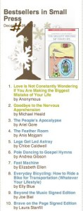 We Made Our First Bestseller List!