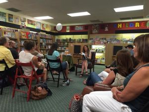 Ellen reads to an overflow crowd at Park Road Books in Charlotte, NC. Photo courtesy of Sarah White.