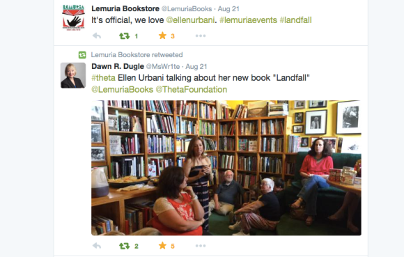 A great tweet from Lemuria, and a bonus photo of the luncheon event.